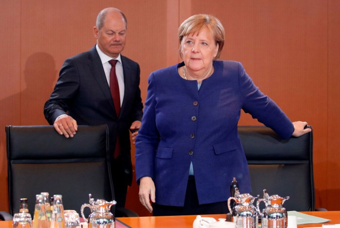 German Chancellor Angela Merkel and finance minister Olaf Scholz, who has placed the bulk of the blame on Wirecard's auditors