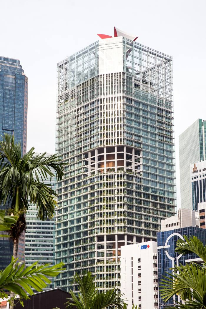 The CapitaGreen building, an office tower in Raffles Place
