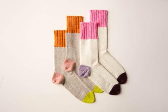 Patron de chaussettes Easy Heel Colorblock, 8,80 $ à télécharger