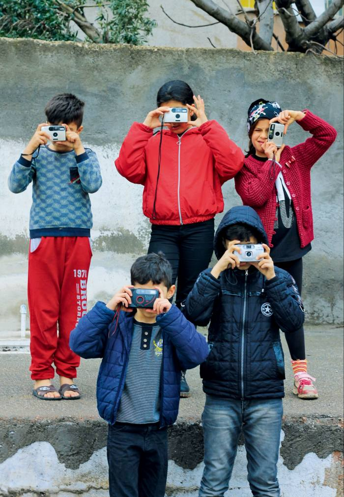 Some of the children with their analogue cameras