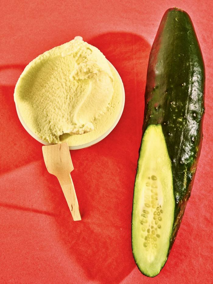 Cucumber and sour cream ice cream from La Grotta Ices