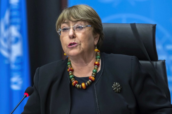 Michelle Bachelet, UN human rights chief, has warned of 'blanket denials and finger-pointing' amid evidence of atrocities committed by all sides