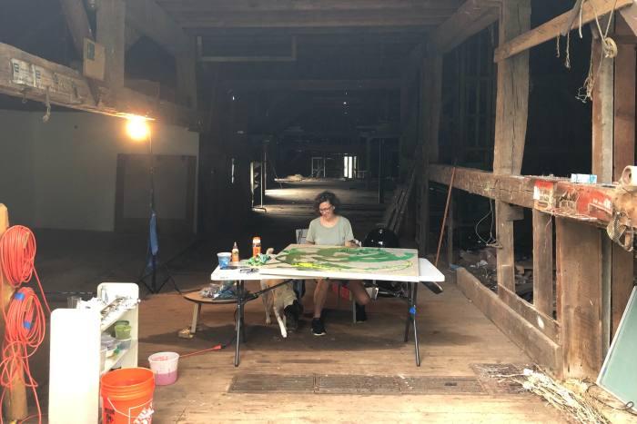 Jessica Rankin at work in her studio