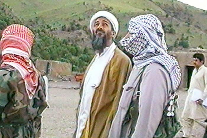 Al-Qaeda leader Osama bin Laden in Afghanistan in 1998