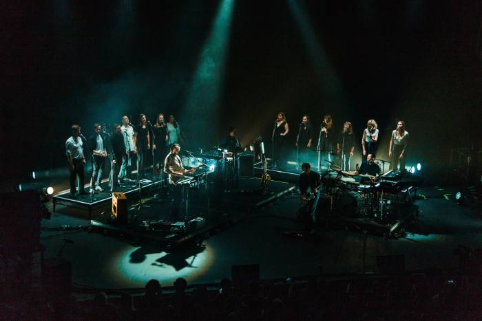 Bon Iver perform with the Voiceworks Choir at Cork Opera House during SFSH 2017