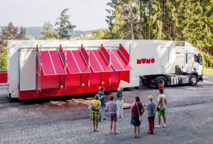 The MuMo truck, which is working with France's Centre Pompidou in 2021