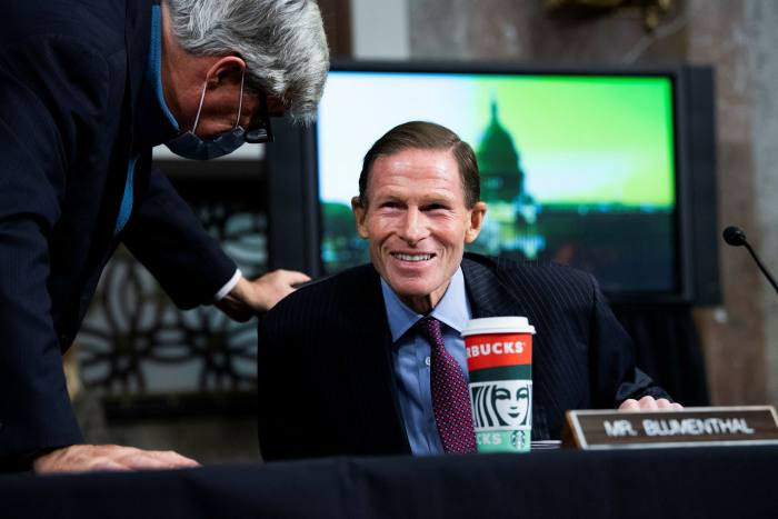 Senator Richard Blumenthal is the only US official to have publicly singled out Russia as the main culprit
