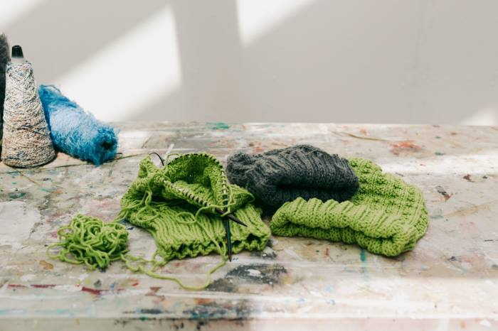'In the past six months I've got hold of circular needles and begun knitting hats'