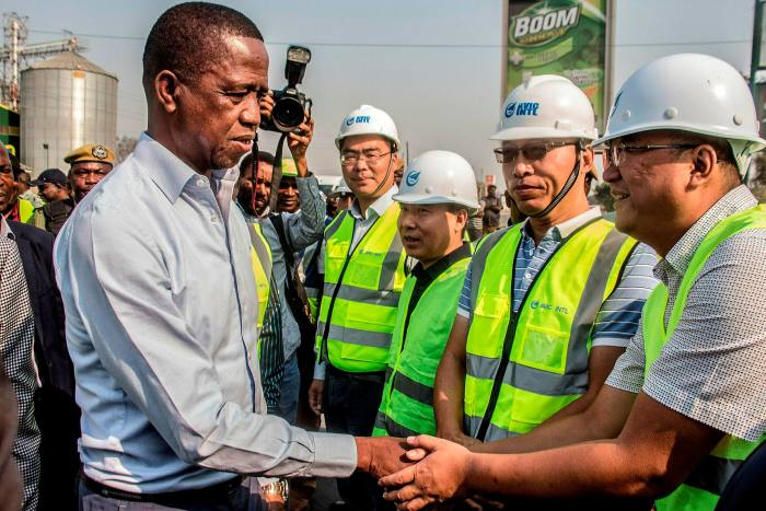 President Edgar Lungu meets workers from the Aviation Industry Corporation of China