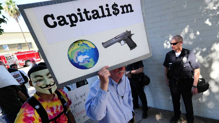 The anti-capitalist Occupy protests that started in 2011 were a response to the deep inequalities in society exposed by the 2008 financial crash