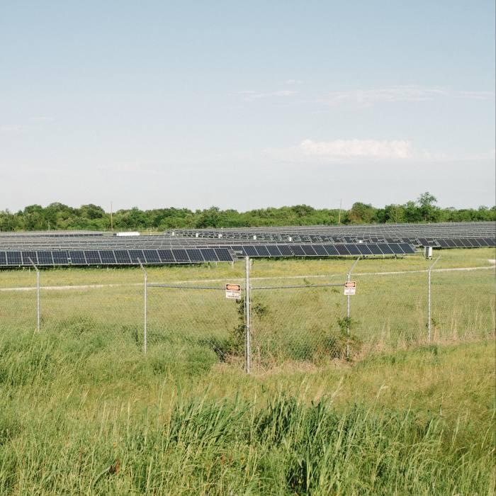 A solar farm in Marlin, Texas