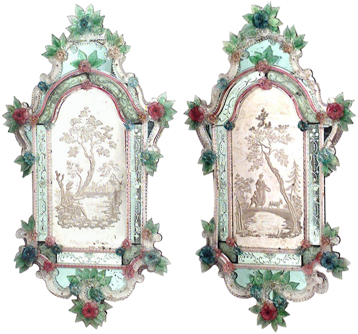 A pair of 19th-century Venetian mirrors at 1stdibs