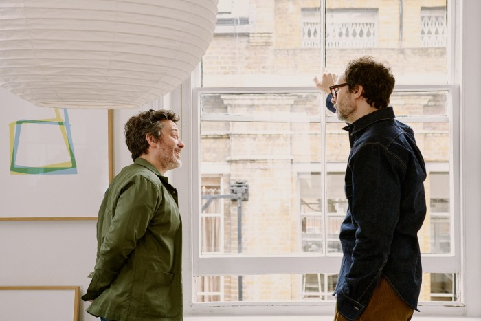 Jay Osgerby (left) and Edward Barber (left) in their east London studio