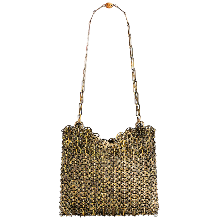 Paco Rabanne antique-gold Iconic bag 1969 bag, £945