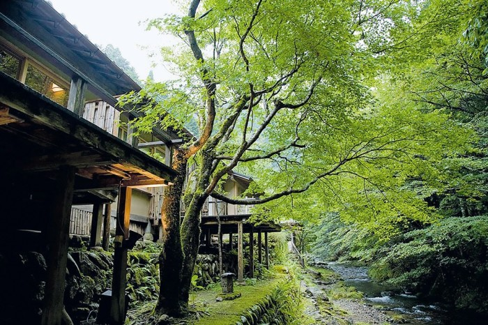 Miyamasou ryokan in a mountainous area near Kyoto