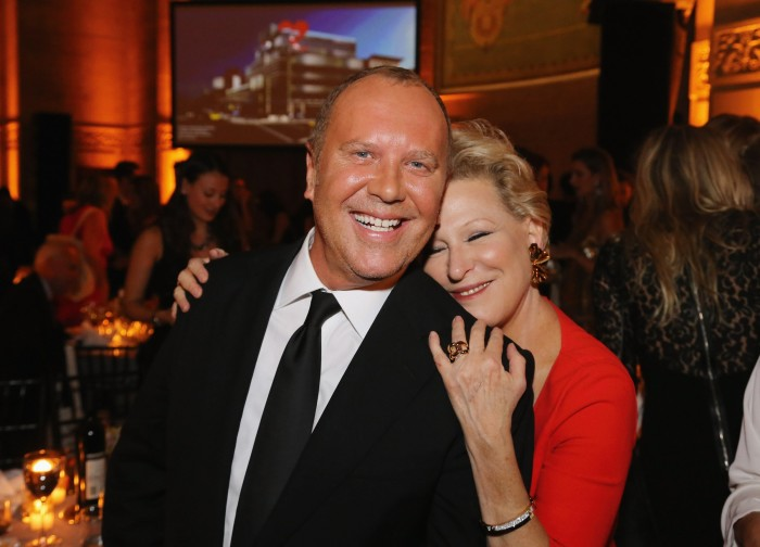 Michael Kors and Bette Midler at his annual New York fundraiser, the Golden Heart Gala