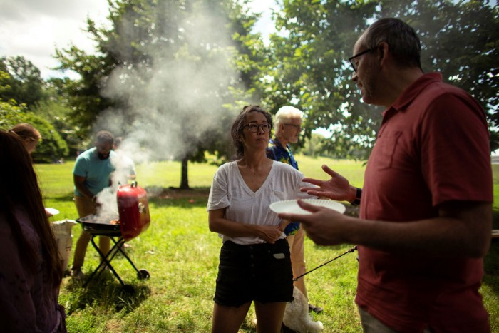 Barbecue in Prospect Park on July 4