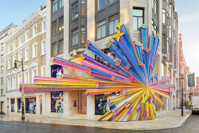 Marino's project on the Louis Vuitton store in London's New Bond Street