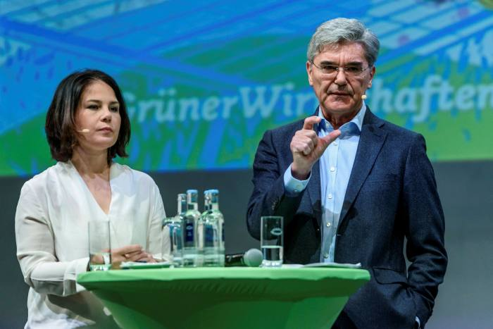 Joe Kaeser, former chief executive of Siemens, spoke at the Green party's last conference