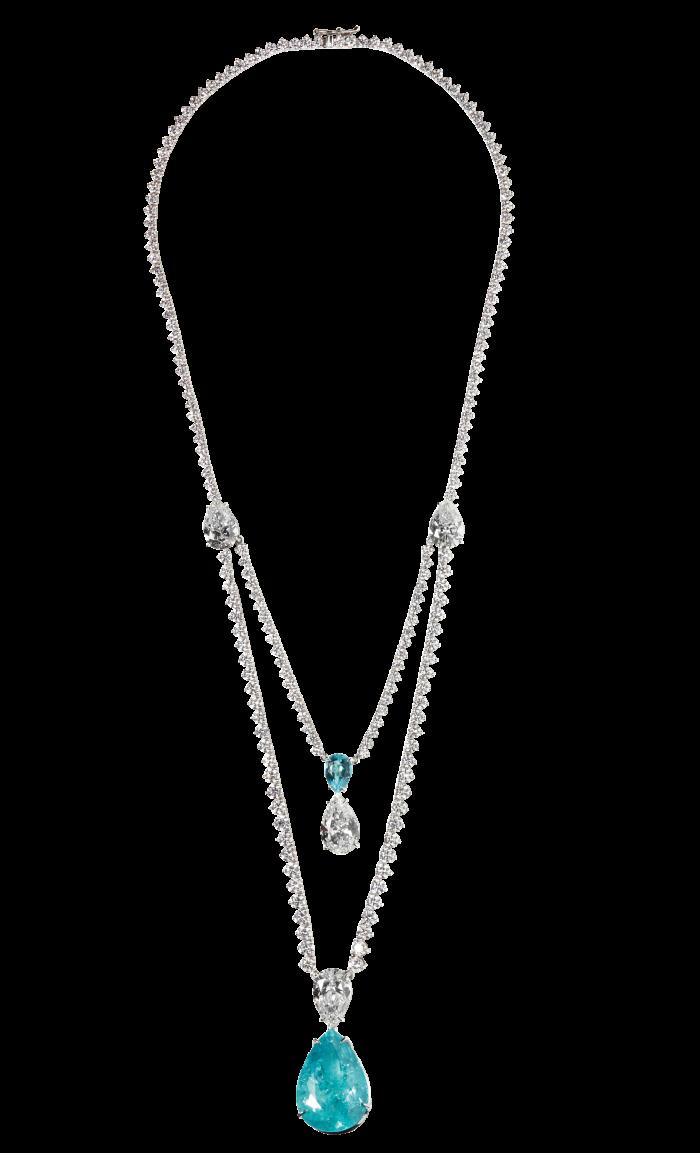 Ara Vartanian paraíba tourmaline, white-diamond and18ct-white-gold necklace, POA