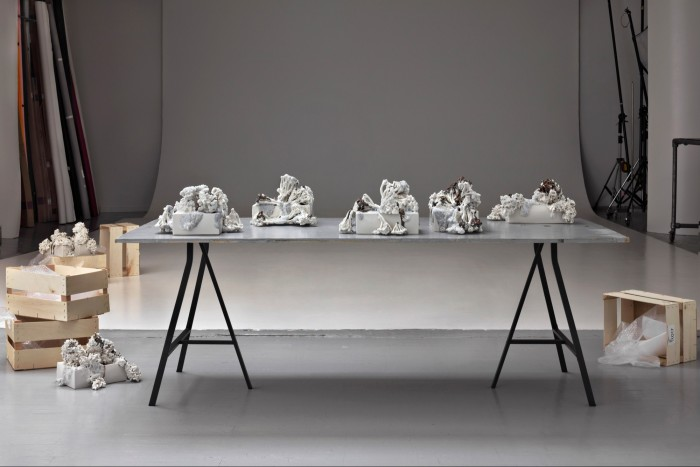 Lo and Behold, a ceramic sculpture installation by the Danish artist Signe Fensholt