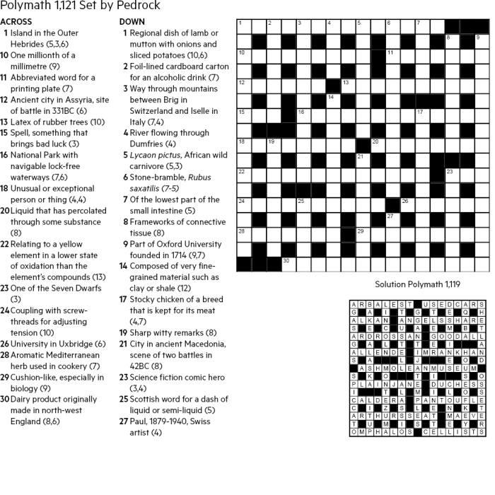 FT Crossword: Polymath number 1121