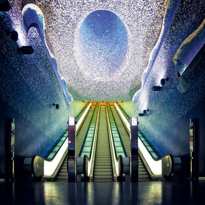 Robert Wilson's art at Toledo subway station