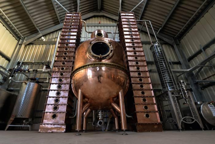 The Oxford Artisan Distillery's copper still