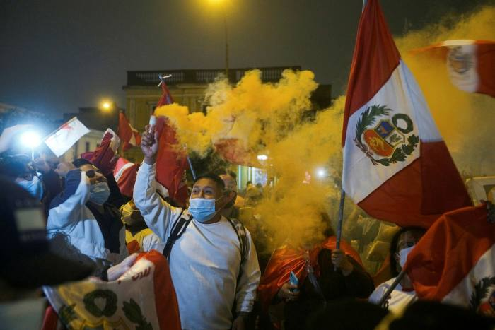 Fujimori supporters gather in Lima on Wednesday
