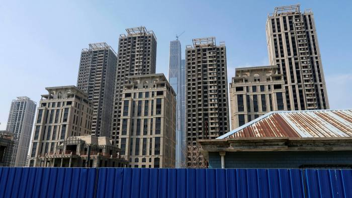 High-rises stand partially empty in Tianjin, China