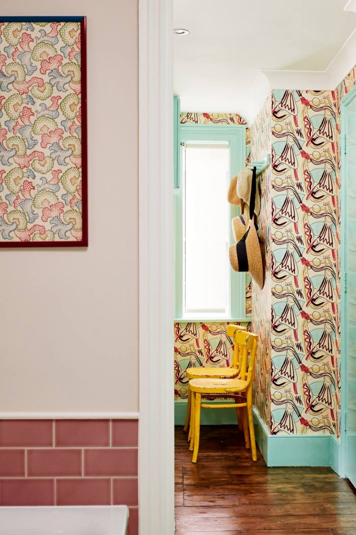 Pattern and colour on show in Cath Beckett's hallway...