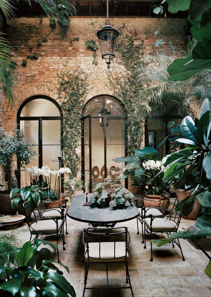 TheWinter Garden gives the impression of being reclaimed by nature
