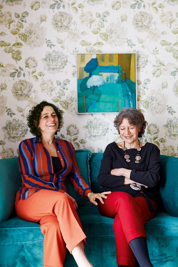Alex and Olga Polizzi in a bedroom at The Star. The painting is by Sussex artist Anne de Geus