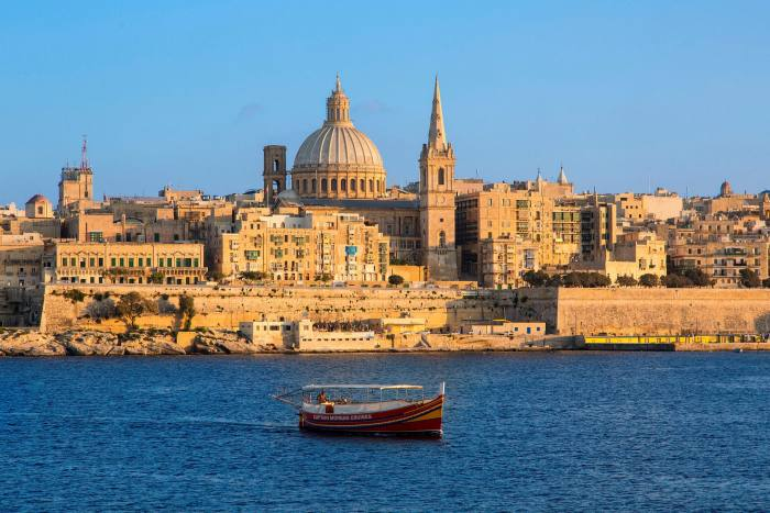 The Valletta skyline, featuring St Paul's Anglican Cathedral