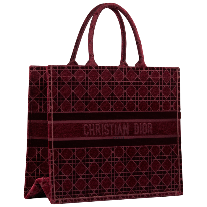 Dior Book Tote in velvet, from £2,250