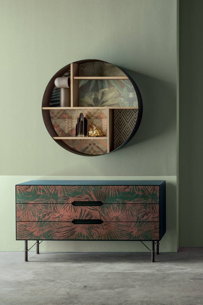 Icon's Design Milano Style Pink Leaf 104 sideboard, £2,695, artemest.com