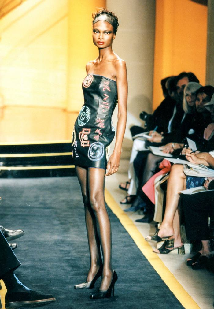 An Atelier Versace strapless autumn / winter 1997 dress, available at One of a Kind for £ 26,000