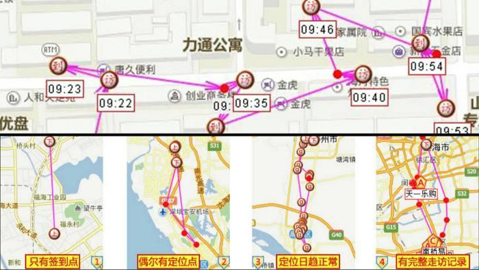 Screenshot of Zhongduantong's monitoring app