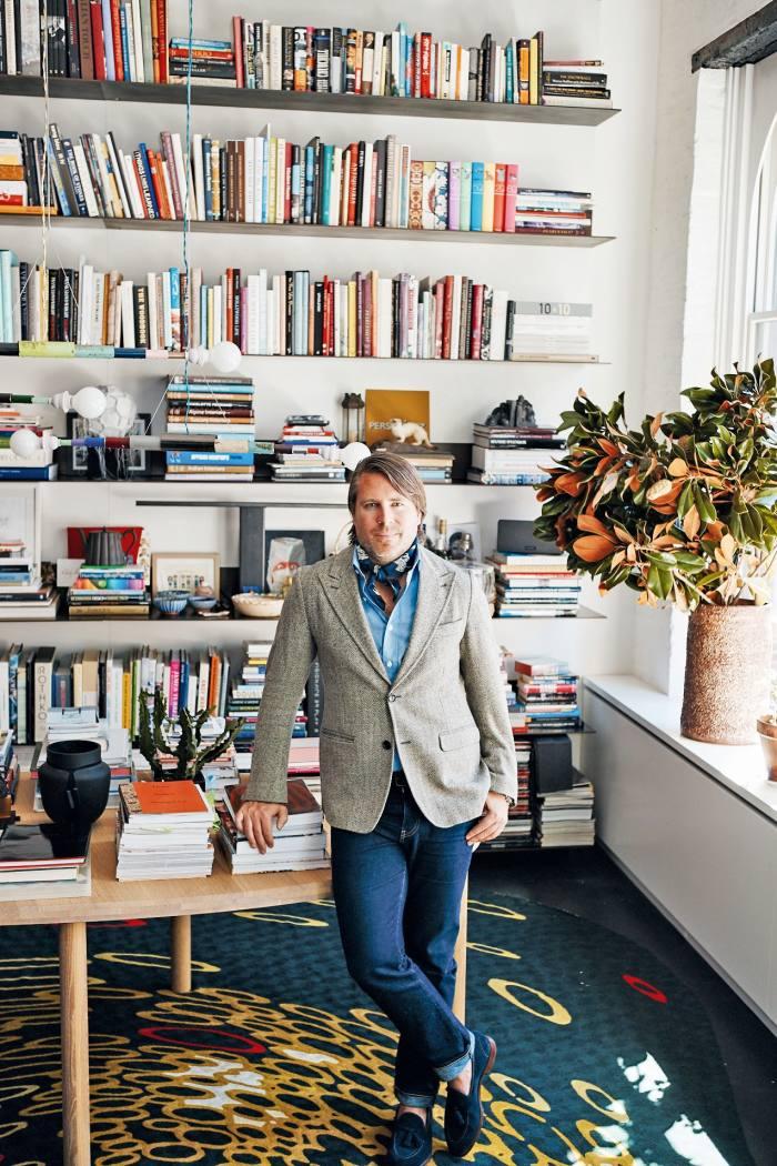 Designer Rodman Primackat home in New York