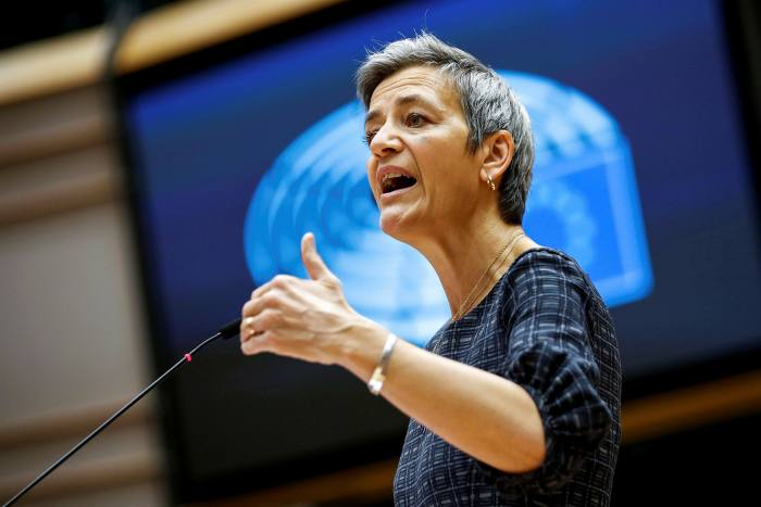 Margrethe Vestager says it is too early to reconsider the EU's €750bn recovery plan