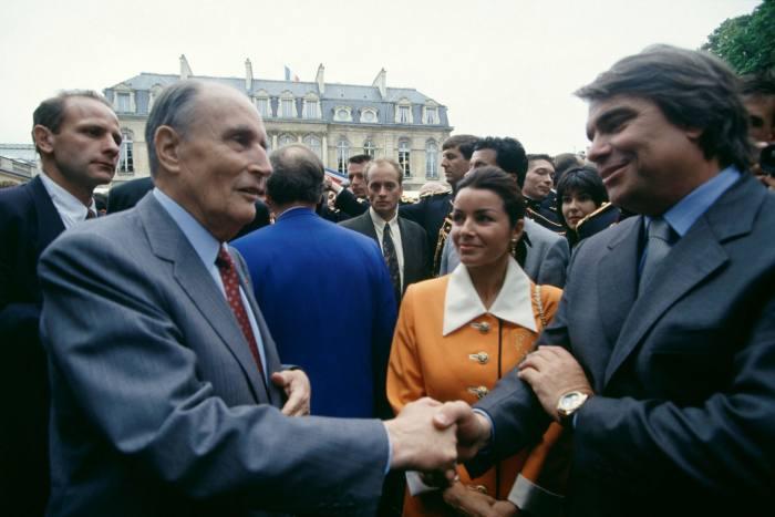 Bernard Tapie mit François Mitterrand