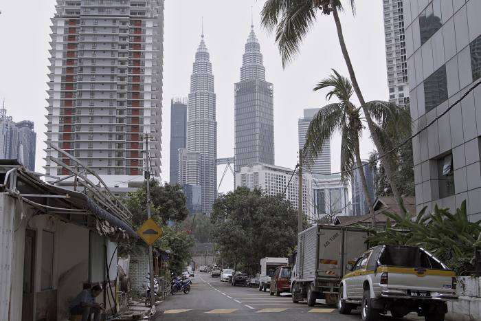 KUALA LUMPUR, MALAYSIA - MARCH 19: Empty roads in downtown Kuala Lumpur are seen, on March 19, 2020 in Kuala Lumpur, Malaysia. (Photo by Rahman Roslan/Getty Images)