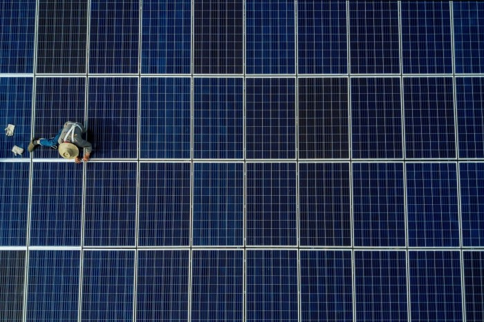 Ray of hope: greater use of solar energy, from facilities such as this one in China, could significantly cut deaths from air pollution