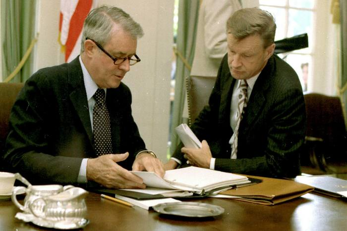 Cyrus Vance Sr, left, served as president Jimmy Carter's secretary of state from 1977 to 1980
