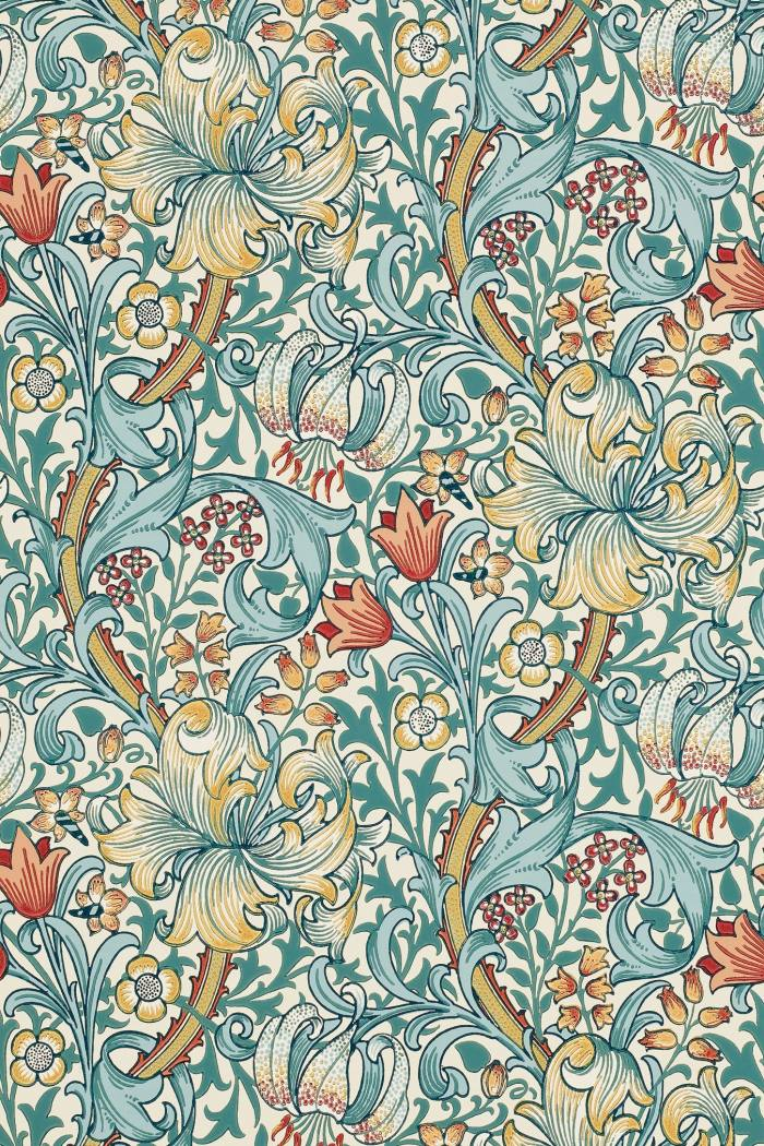 As seen in The Undoing: Morris & Co Golden Lily, £88 per roll, sandersondesigngroup.com…