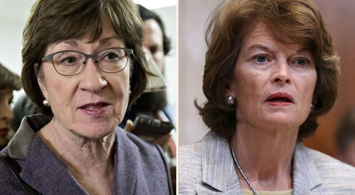 The moderate Republican senators Susan Collins and Lisa Murkowski: Democrats will try to persuade one Republican to defect to their ranks