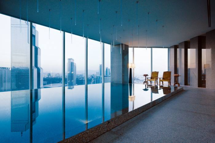 Park Club swimming pool at the Park Hyatt Seoul