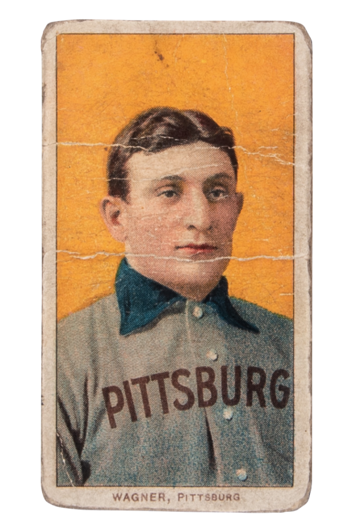 A T206 Honus Wagner, sold for $3.75m in May