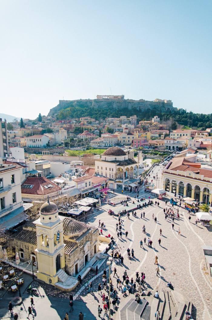 Monastiraki Square and the Acropolis inAthens