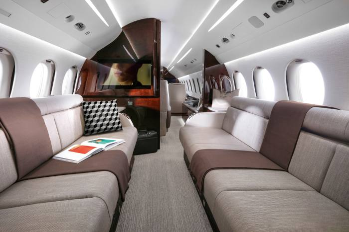 The Falcon 8X can carry up to 21, including crew